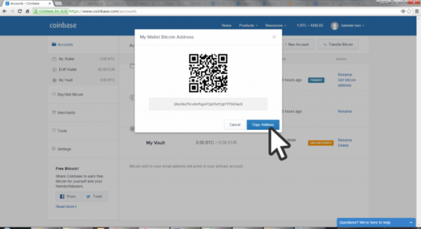 how to find coinpot wallet address